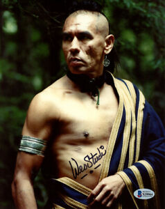 WES STUDI SIGNED AUTOGRAPHED 8x10 PHOTO MAGUA LAST OF THE MOHICANS BECKETT BAS