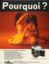 Publicité 1971  Appareil photo ASAHI PENTAX l'appareil reflex de haute qualité