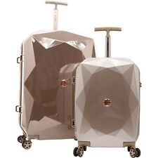 NEW KENSIE 100% POLYCARBOANTE 2PC ROSE GOLD DIAMOND COLLECTION W/ TSA NOT EXPAND