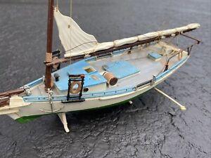 Vintage UPC Revell Monogram ? CARRIE PRICE Sailing Ship Built Plastic Model