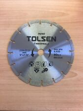 "TWO DIAMOND CUTTING BLADE / DISC STONE - ANGLE GRINDER BLADE 230mm / 9"" x 22.2mm"