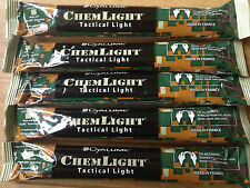 5 X NEW CYALUME CHEMLIGHT TACTICAL GLOW STICK 12 HOUR RED 02/18 EXP