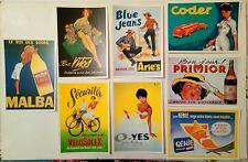 8 cartes postales affiches anciennes publicitaires années 1960
