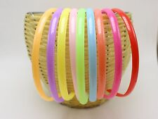 10 Mixed Color Plastic headband hair band 8mm With Teeth