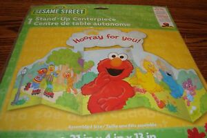 """Sesame Street #1 Stand-Up Centerpiece """" Hooray for you! """" Party, Birthday,more"""