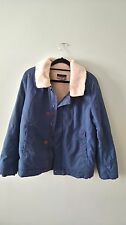 Jacket Fur Collar Padded Casual Smart Boys Teen Blue Thick Pockets Button 13-14Y