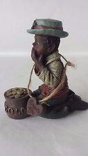 Sarah's Attic Noah Pot Of Gold 1991 #3447 African American Boy Figurine