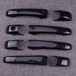 Car Carbon Fiber Door Handle Cover Trim Fit for Jeep Grand Cherokee / Patriot