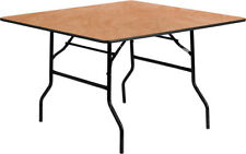 Flash Furniture Natural Wood folding table Yt-Wfft48-Sq-Gg