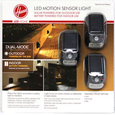 Hoover LED Security Motion Sensor Light Solar/Battery Powered (3 pack) NEW LOOK!