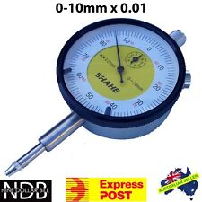 Dial Indicator Gauge 0-10mm X 0.01 Test Precise Measuring FAST POST & WARRANTY
