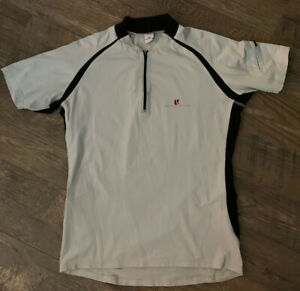CONCURVE MENS GRAY SHORT SLEEVE CYCLING JERSEY SZ MED