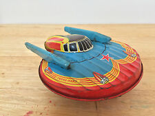 1930s French SFA 'TERRE MARS' Tin Spaceship, Space Toy, Flying Saucer - RARE!!!