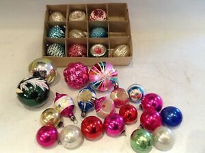 Vintage Glass Christmas Tree Baubles Tree Decorations