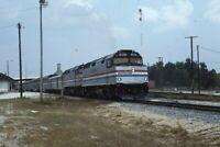 AMTRAK Railroad Locomotive 297 Train MCCOMB MS Original 1996 Photo Slide