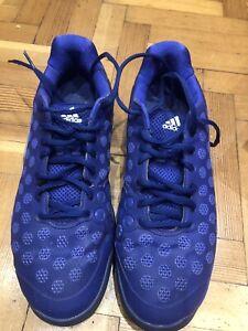 Adidas Barricade Tennis Shoes - UK Size 10.5 Used Blue