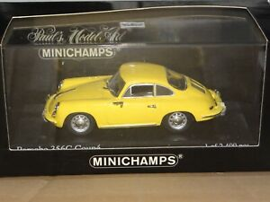 Porsche 356 1963 coupe Yellow Minichamps - 1/43 430062327