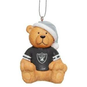 Oakland Raiders Christmas Tree Holiday Ornament New - Jersey Teddy Bear Santa
