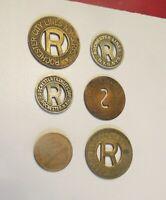 ROCHESTER NY TRANSPORTATION TOKENS 6 VARIETIES NY780 D,E,G,H,J,Z