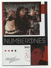 2011 Panini Michael Jackson King Of Pop Number Ones Platinum #185 (BAD)