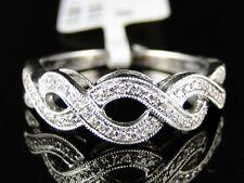 14K Womens White Gold Diamond Wedding 7Mm Pave Round Band Ring