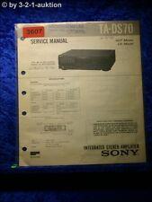 Sony Service Manual TA DS 70 Amplifier (#3607)