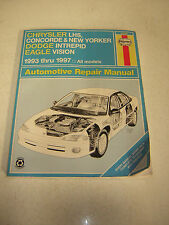 Chrysler Lhs, Concorde, New Yorker-dodge Intrepid and Eagle Vision Repair Manual