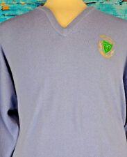 Glenmuir Men's V-Neck Pullover Sweater Lambswool Size XL Warm XL Inde Salus 250