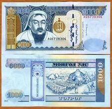Mongolia, 1000 Tugrik, 2013, P-67 (67d), UNC > Genghis Khan