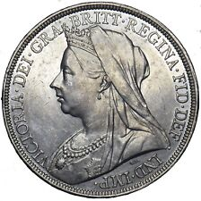 1895 LIX CROWN - VICTORIA BRITISH SILVER COIN - SUPERB