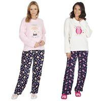 Ladies Warm Winter Fleece Pyjama and Ballet Slipper Set ~ Fox or Owl