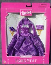 Barbie Evening Wear FASHION AVENUE tenue accessoire 1997 Mattel 18120 robe mauve