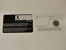 S.T. Dupont Paris Blanko Reparaturkarte X.Tend / Maxijet / X-Tend Version Neu