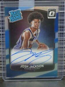 2017-18 Optic Donruss Josh Jackson Silver Prizm RC Rookie Card Auto #197 Z368