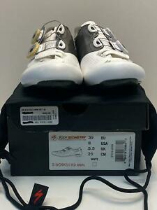 NEW Specialized S-WORKS 6 ROAD Body Geometry bicycle SHOES 39 WOMENS White