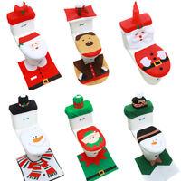 3PC Set Christmas Decoration Toilet Seat Cover Set Santa, Elf, Reindeer, Snowman