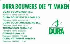 Telefoonkaart / Phonecard Nederland CRE077 ongebruikt - Dura Bouwers