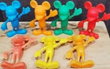 Disney Louis Marx Colored Plastic Figurines 1972 Mickey Mouse