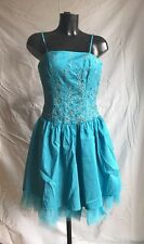 Party Prom Bridal Cocktail Dress Size Small Colour Turquoise Blue By Landmark