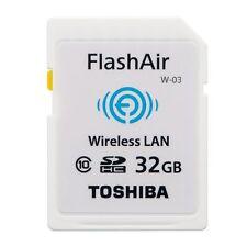 NEW Toshiba Flash Air 32GB Class 10 W-03 Wireless Memory Card / Wifi SD Card