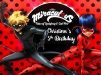 MIRACULOUS LADYBUG - Edible Cake Topper OR Cupcake Topper, Decor