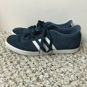 Adidas Neo Courtset Navy Blue Suede Sneakers Women's Size 10 Athletic Shoes