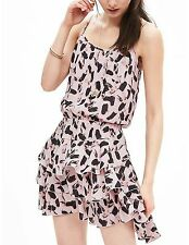 NWT Banana Republic New $130.00 Women Print Ruffle Dress Size Medium