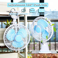 240V Adjustment 180° Desk Fan AC High-Speed Air Portable Desk and Clip On Fan