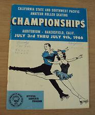 """1966 SOUVENIR Program~""""CALIFORNIA Roller Skating CHAMPIONSHIPS""""~Bakersfield~"""
