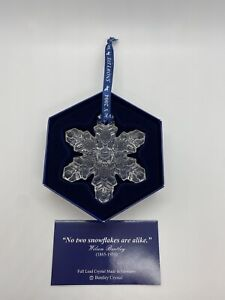 Wilson Bentley Collection Full Lead Crystal 2004 Snowflake Snowy Eve