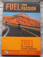 Harley Owners Group HOG 2001 European Touring Handbook Road Atlas Guide Europe