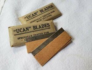 UCAN Blades Original Packaging with Blades Hair Cutting Barber Stylist Vintage