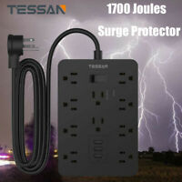 Surge Protector Power Strip With Heavy Duty Plug,10 Outlets,3 USB,9.8 ft Cord