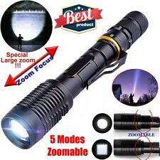 High Power 900000LM LED Flashlight Tactical 5 Modes Focus Camping Torch Police